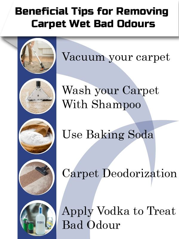 Get Rid of  the Wet Carpet Smell